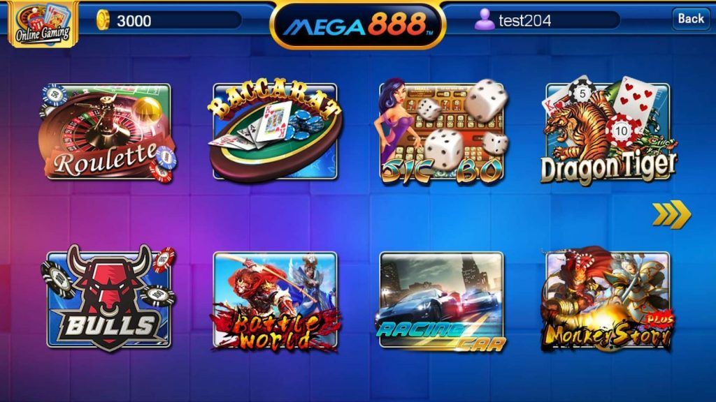 Mega888 has the best games in the world for you to play